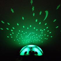 Kit X 3 Unidades Luminária De Estrelas - Tartaruga Som E Luz
