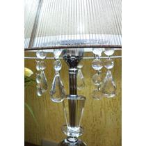 Abajur Grande De Toque Lustre Cristal Quarto Sala