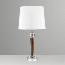 Abajur Luminária Madeira Vidro Rústico Moderno Sala - Gda