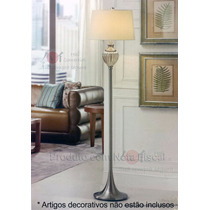 Abajur, Luminária De Chão Luxo Mercury Glass Cupula D Tecido
