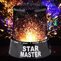 Luminária Star Master Preta Projetor Led Abajur Estrelas
