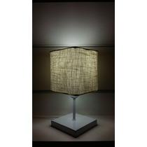 Lustre Abajur Luminária De Messa Quarto Md-2008 Rustico Bege
