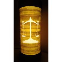Luminária Abajur De Led Símbolo Advocacia Justiça Direito