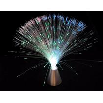 Kit Com 2 X Luminária Abajur De Fibra Óptica 3 Cores 8 Fases
