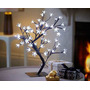 Luminaria Árvore Abajur Flor De Luz Cerejeira Leds Branco