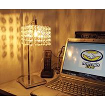 Lustres Abajur De Mesa Quarto Decorativo Cristal 11x11