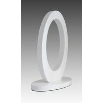 Abajur Oval Branco - Led 4w -branco Frio/quente - Bivolt