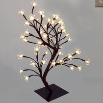 Árvore Abajur Decoração Luminária Led Branco Flor Cerejeira