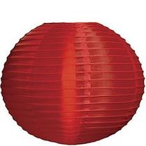 Luminária Nylon Japonesa 35cm Vermelha Oriental Hachi8