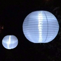 20 Luminárias Nylon Japonesa 40cm Branca Chinesa Hachi8
