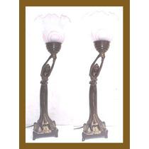 Abajur Art Deco De Peti Bronze - Petit Bronze ( 02 )