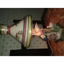 Anos 50 Raro Abajour Porcelana Passaros Em Relevo