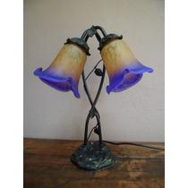 Abajur Com 2 Tulipa Murano Estilo Tiffany Cod Ot851