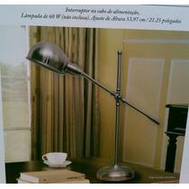 Luminária De Mesa Articulável Em Aço Escovado 110v-import