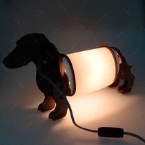 Luminária Cachorro Em Pé Em Mdf