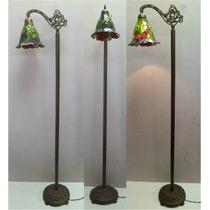 Abajur Pedestal Coluna Com Cupula Tiffany P1ty