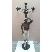 Black Moor De Petit Bronze Candelabro Com 5 Luminarias
