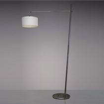 Luminária De Coluna Bronzearte Balance Cúpula Tecido E27