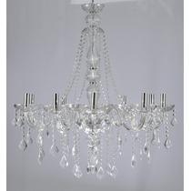 Lustre Cristal Maria Tereza 10 Braços Transparente - Adn+
