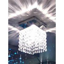5x Lustre De Cristal Plafon Com 168 Cristais Frete Grátis