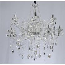 Lustre Cristal Maria Tereza 12 Braços Qualidade+ - Adn+