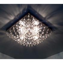 Lustre Plafon Quadrado 25cm !!! Cristal Asfour !!! Ref:960/q