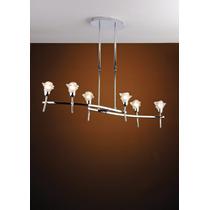 Luminária Lustre Pendente Sala E Quarto Bronzearte 6 Luzes