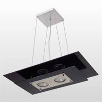 Lustre Sala Ou Quarto Kit Lustre 2 Lampadas + Plafon 1 Lamp