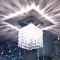 Luminária Plafon De Cristal Com 168 Cristais Legítimos