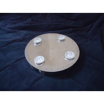 Base Redonda 30 Cm Inox Montagem Lustre Cristal Plafon