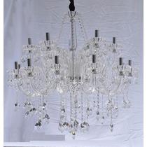 Lustre Cristal Candelabro Maria Tereza 12 L Luxo Clear +luz