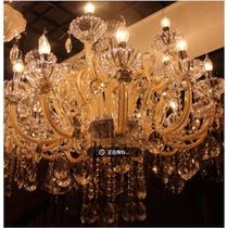 Lustre Cristal Candelabro Maria Tereza 6 Champagne Luxo +luz
