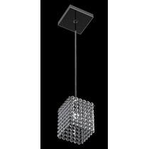 Pendente Pequeno Cristal Quadrado 12x12 Cm New