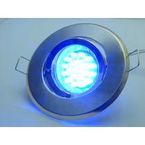 Kit Spot Direcionável Prata + Lampada 20 Leds Azul