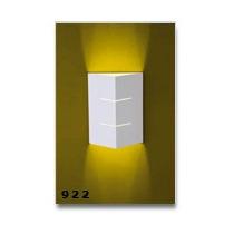 Arandela Meia Face Triângulo 02 Fachos Em Aluminio P/ Halopi