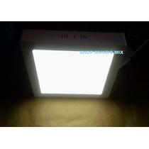 Luminária Painel Plafon Sobrepor Led Quadrado 18w Br Frio