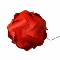 Luminária De Piso Orbit Vermelha Média (35cm Diâmetro)