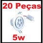 Kit Spot 5w Super Led Direcionável Alumínio ((20 Unidades))