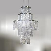 Lustre De Cristal Para Sala Ø50 - Pendente Luminária Quarto