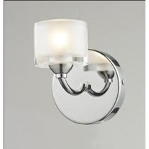 Arandela Vidro Metal - Lustre Sala - Luminária Quarto Parede