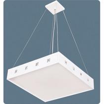 Pendente Quadrado Branco 60x60 Para Sala - Lustre Quarto