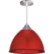 Pendente Prismático Gota Vermelho Luminária Lustre Colorido