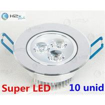 Kit Spot Super Led Lampada Direcionável 3w X 10 Unidades