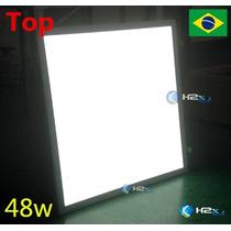 Luminária Plafon Led 48w 60x60 Borda Branca Classe Top