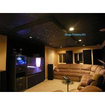 Iluminação Efeito Céu Estrelado Fibra Óptica 100 Pontos X 2m