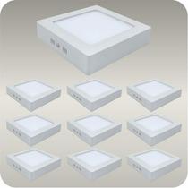 Kit 10 Painel Plafon Luminaria Sobrepor Teto Led Spot18 W