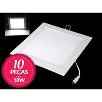 10 Painel Plafon Embutir Super Led Ultra Slim Downlight 18w
