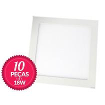 10 Painel Plafon Luminaria Sobrepor Teto Led Quadrado 18w
