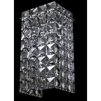 Arandela Cristal Retangular Frete Grátis New