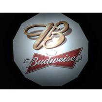 Luminoso Luminária Letreiro Bar Cerveja Beer Budweiser